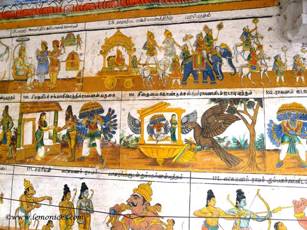 Ramayana on walls of temple @lemonicks.com