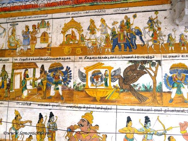 Ramayana on walls of temple @lemonicks.com