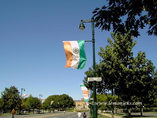 Indian flag in US  @lemonicks.com