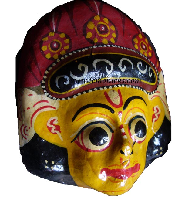 papier mache masks from nepal @lemonicks.com