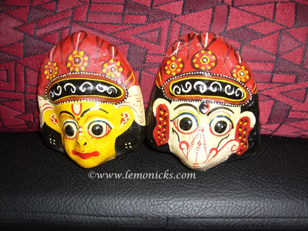 papier mache masks from nepal @lemonicks.com