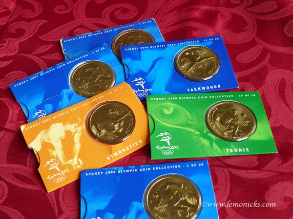 Olympic coins @lemonicks.com