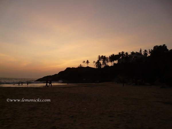 sunset at kovalam @lemonicks.com