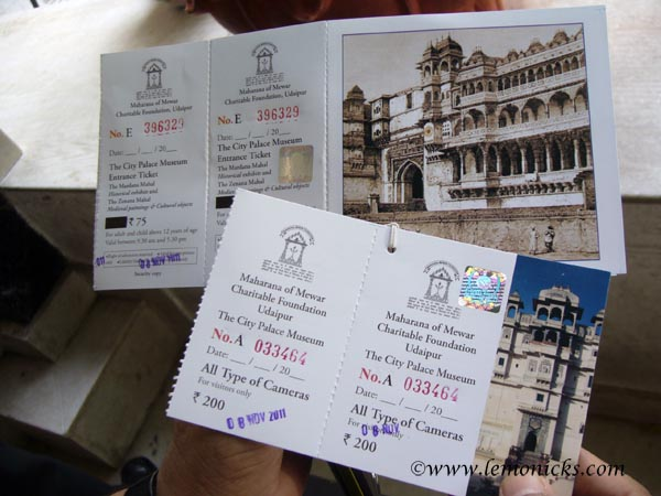 Udaipur palace tickets @lemonicks.com