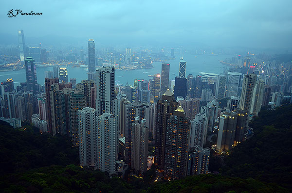 View from Sky Terrace 428 victoria peak hong kong Hongkong
