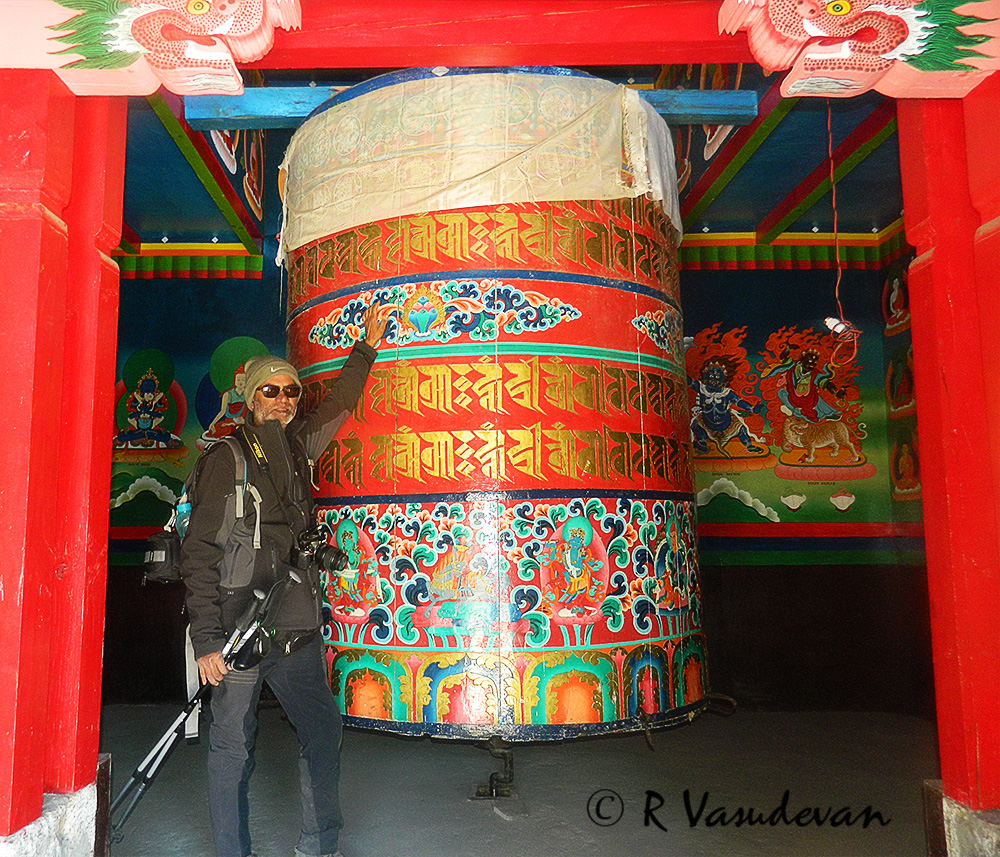 Pray Pray Pray and start walking! Whole of Nepal is scattered with prayer wheels of all sizes. This was one of the bigger ones.