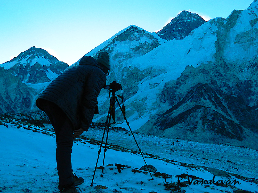 A view of Mt Everest from Kala Pathar