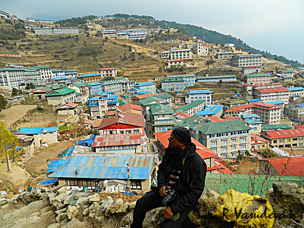 Namche Bazar in the Background