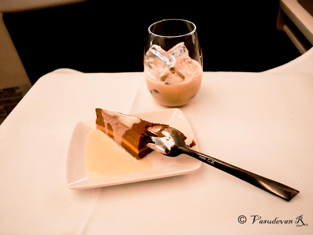 Cathay Pacific Business class A350, dessert