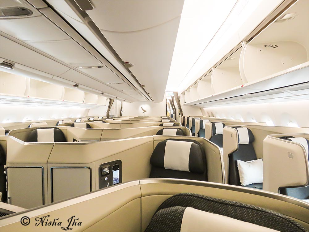 Cathay Pacific Business class A350 , seating arrangement