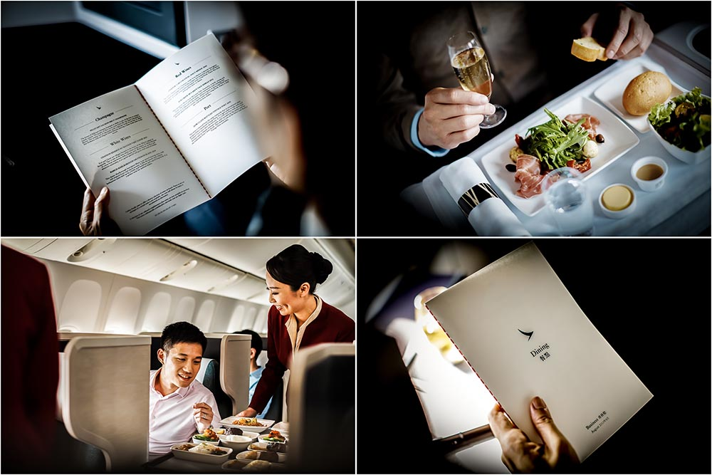 Cathay Pacific Business class A350, Food Options