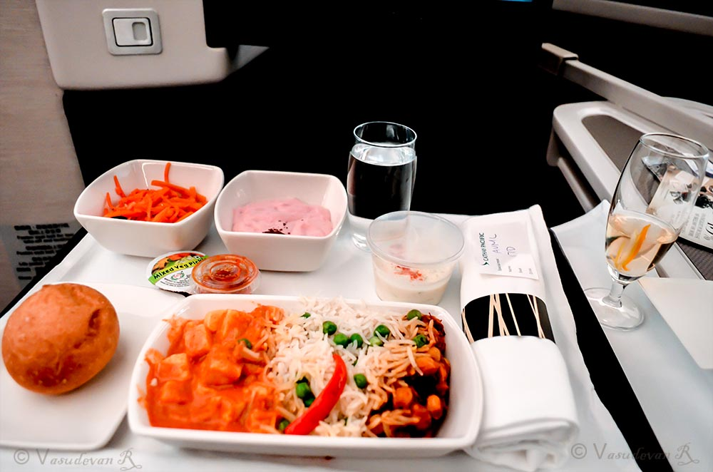 Cathay Pacific Business class A350 , Vegetarian food