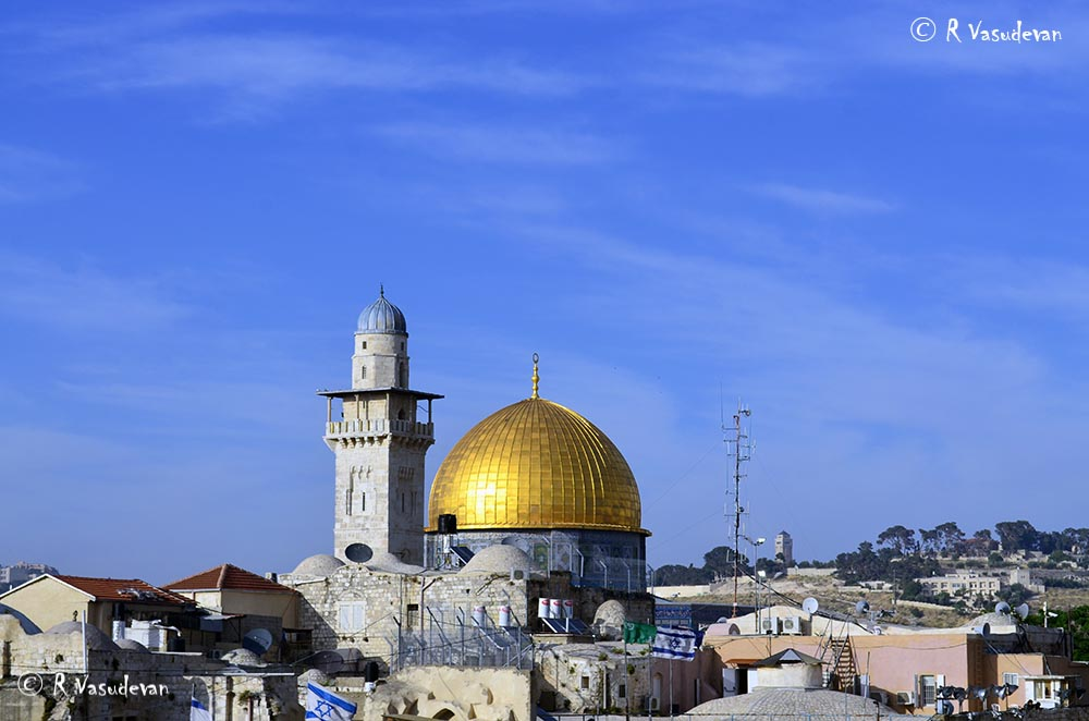 The Dome of the Rock or Kippat ha-Sela, Jerusalem