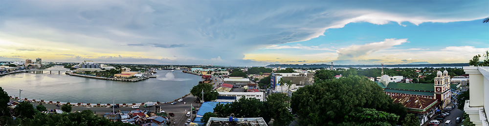 Things to do in Iloilo, places to visit in Iloilo, A panoramic view of the City of Love , Iloilo from the Mayor office terrace