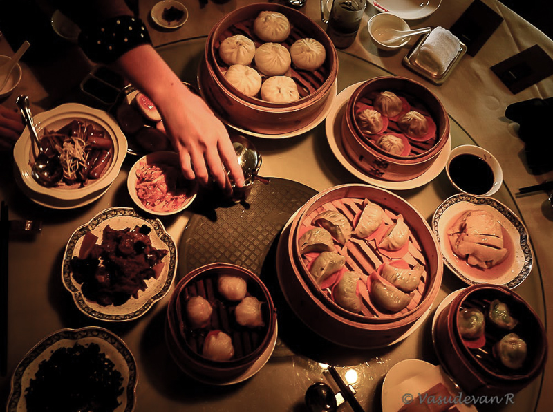 Harbour City, Assortment of Dimsums at Ye Shanghai
