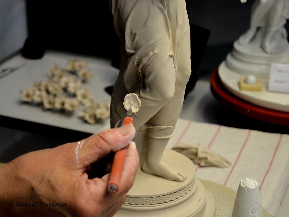 meissen porcelain white gold saxony dresden