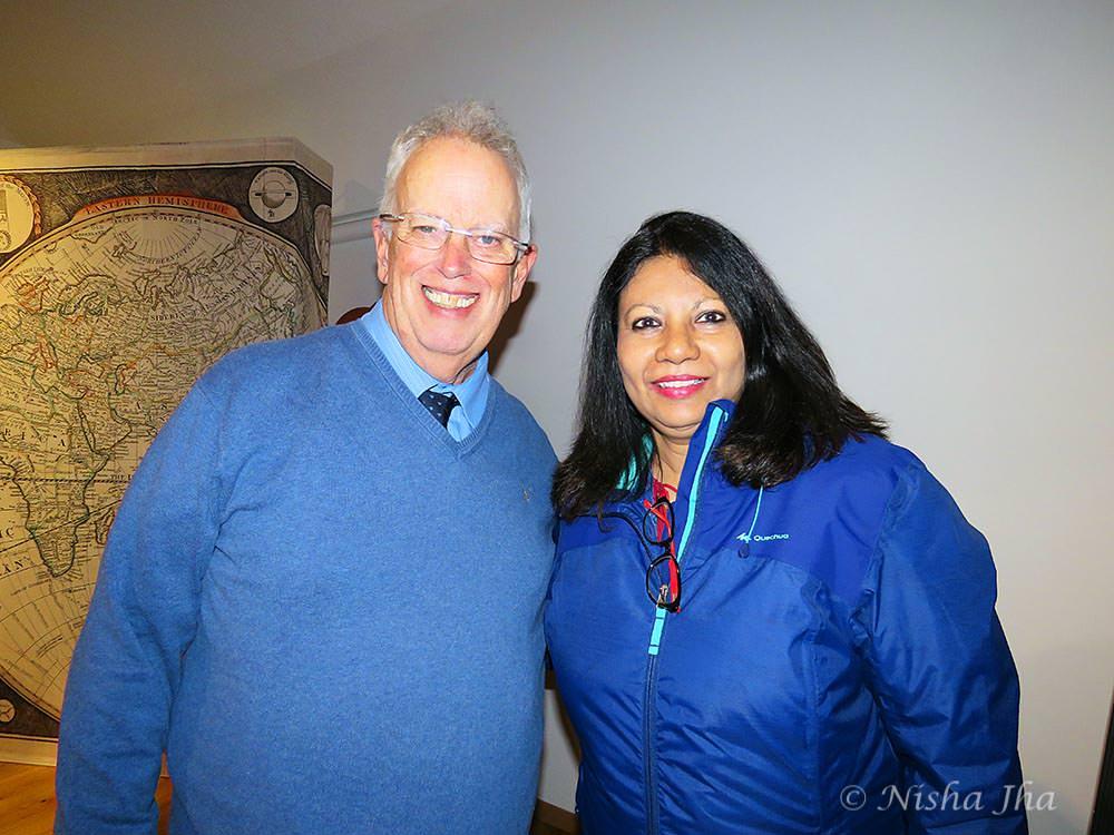 Nisha with Eugene Chaplin, son of Charlie Chaplin vevey @lemonicks.com