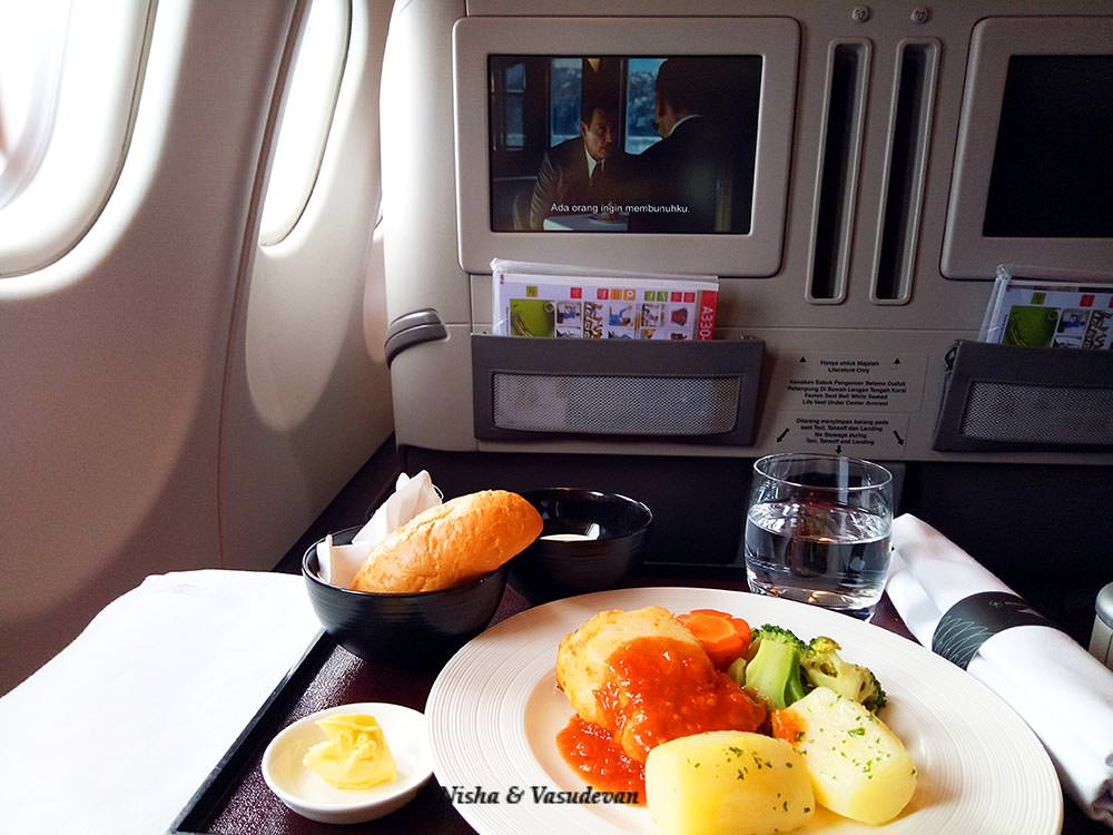 diabetic food in business class garuda airlines @lemonicks.com