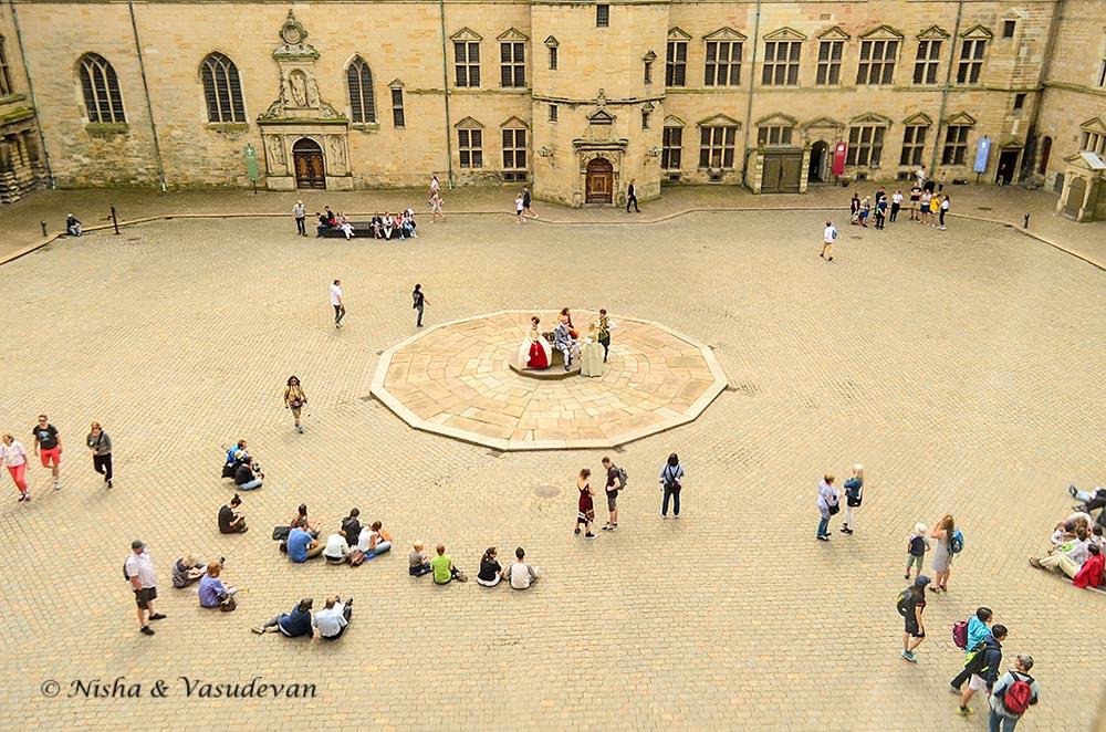 Kronborg Castle tour courtyard
