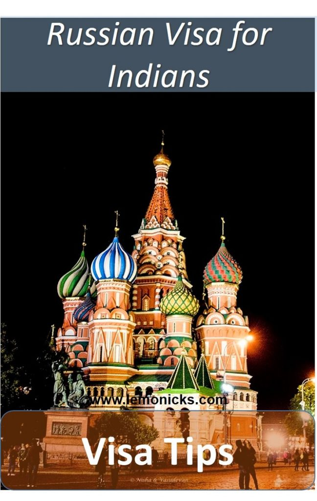 Complete guide to Russian Visa for Indian Nationals