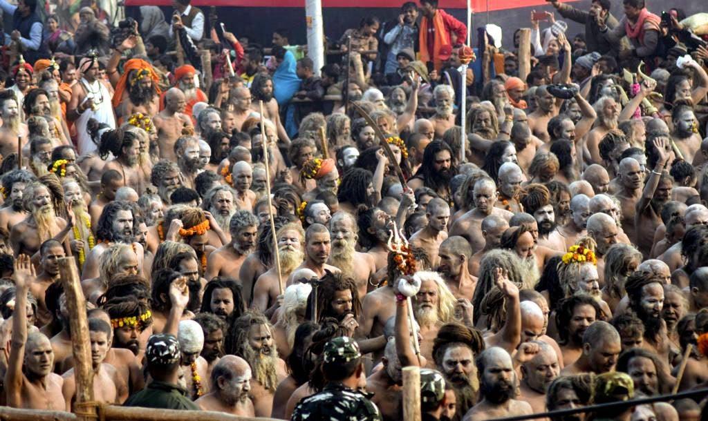 Naga Sadhus in Kumbh Mela 2019 , Prayagraj