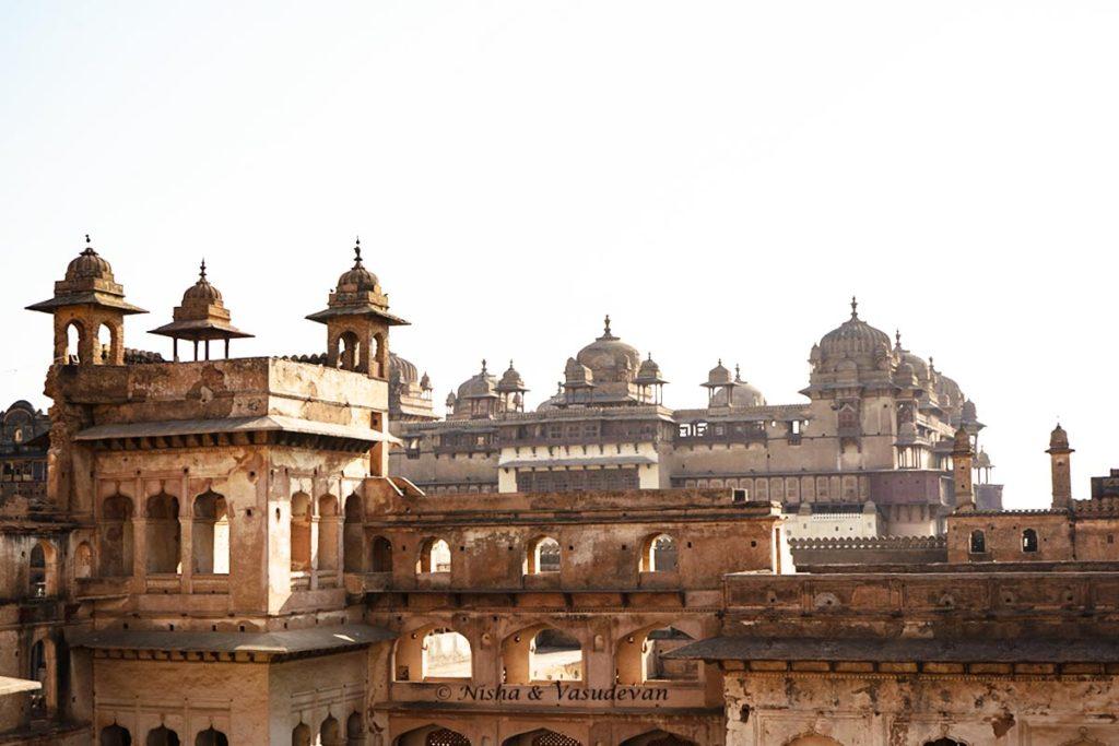 Orchha Fort Complex Raja mahal and Jahangir mahal