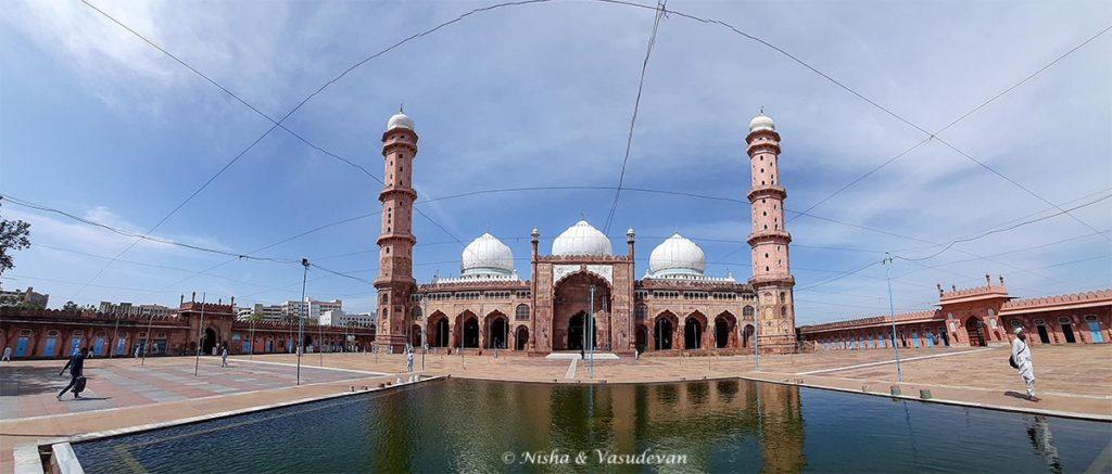 Panorama of Taj ul Masajid big mosque